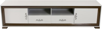 peachtree Engineered Wood Entertainment Unit(Finish Color - White & Brown)