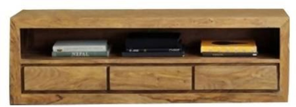 View Ethnic Handicrafts Solid Wood Entertainment Unit(Finish Color - Natural) Furniture (Ethnic Handicrafts)
