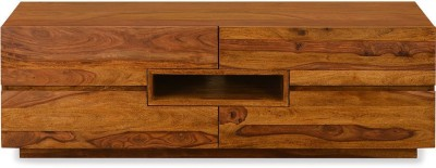 @home by Nilkamal Cubano Solid Wood Media Cabinet
