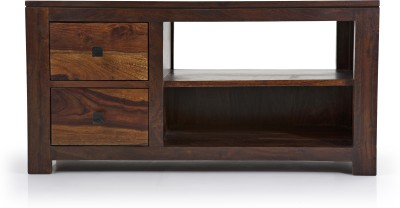 Urban Ladder Striado Solid Wood TV Console(Finish Color - Teak)