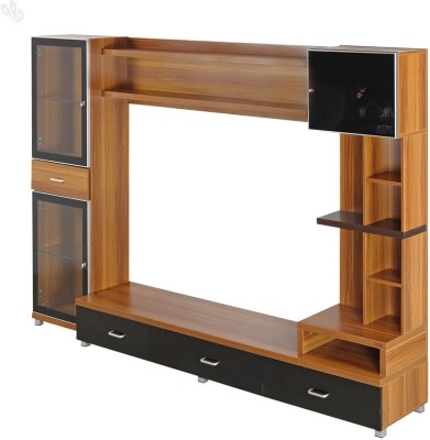 RoyalOak Iris Engineered Wood Entertainment Unit(Finish Color - Honey Brown)