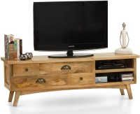 TheArmchair Prague Solid Wood TV Entertainment Unit(Finish Color - Natural)