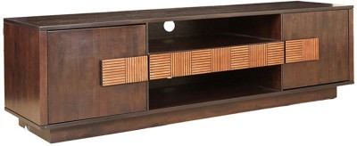 HomeTown Sienna Engineered Wood Entertainment Unit(Finish Color - Wenge,Oak)