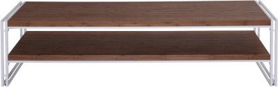 Evok Essen Engineered Wood TV Stand(Finish Color - White +Walnut)