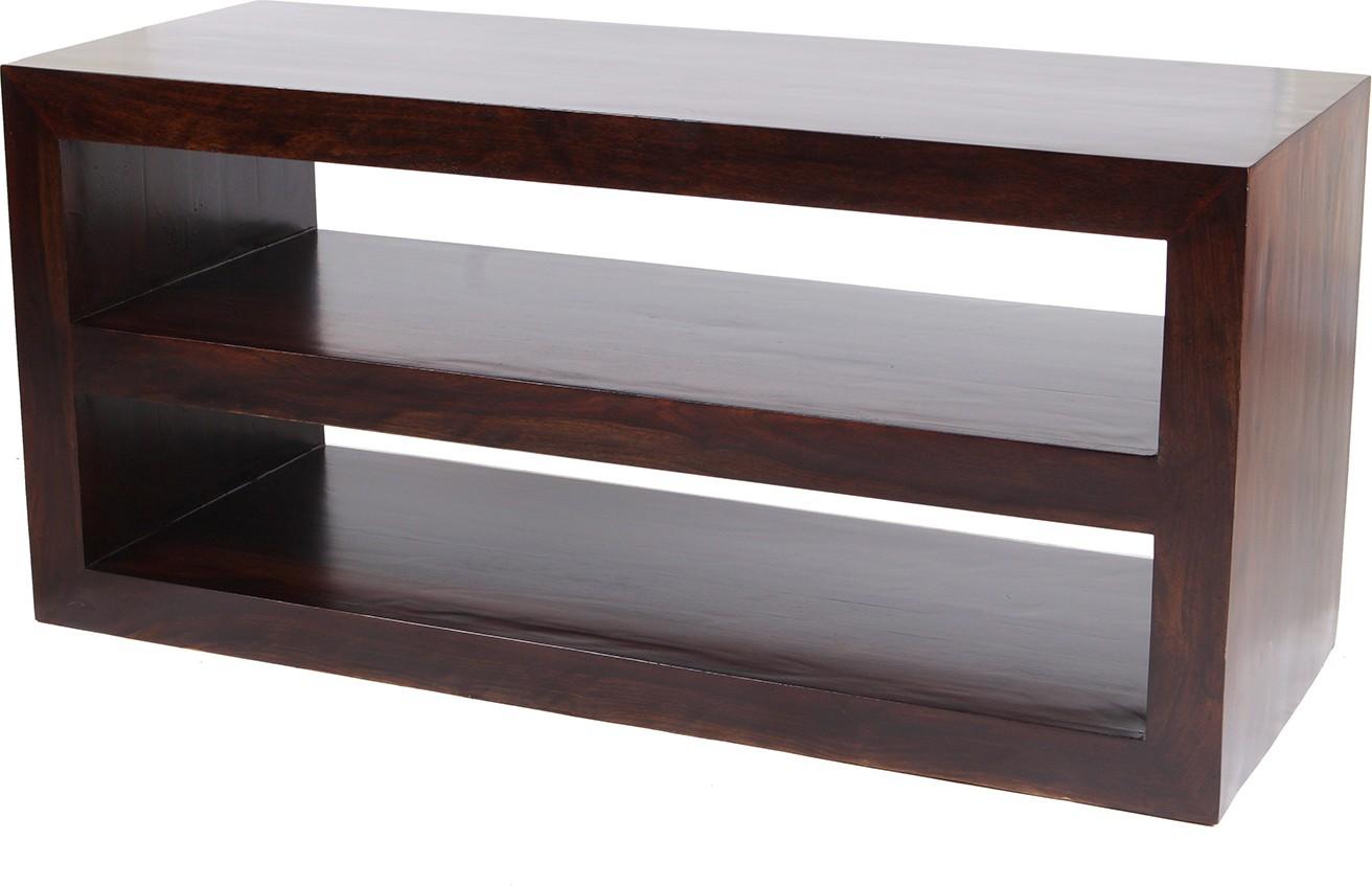 View Wood Dekor Solid Wood TV Entertainment Unit(Finish Color - Dark Brown) Price Online(Wood Dekor)