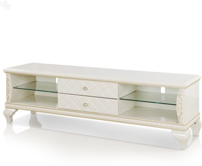 RoyalOak Royal Engineered Wood TV Stand(Finish Color - White)