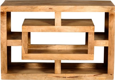 The Attic Solid Wood TV Stand(Finish Color - Provincial Teak)