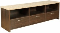 HomeTown Engineered Wood TV Entertainment Unit(Finish Color - Brown)
