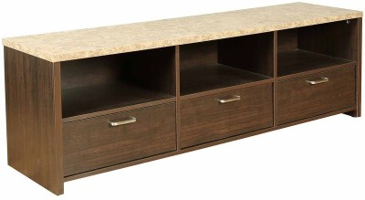 HomeTown Engineered Wood TV Stand(Finish Color - Brown)