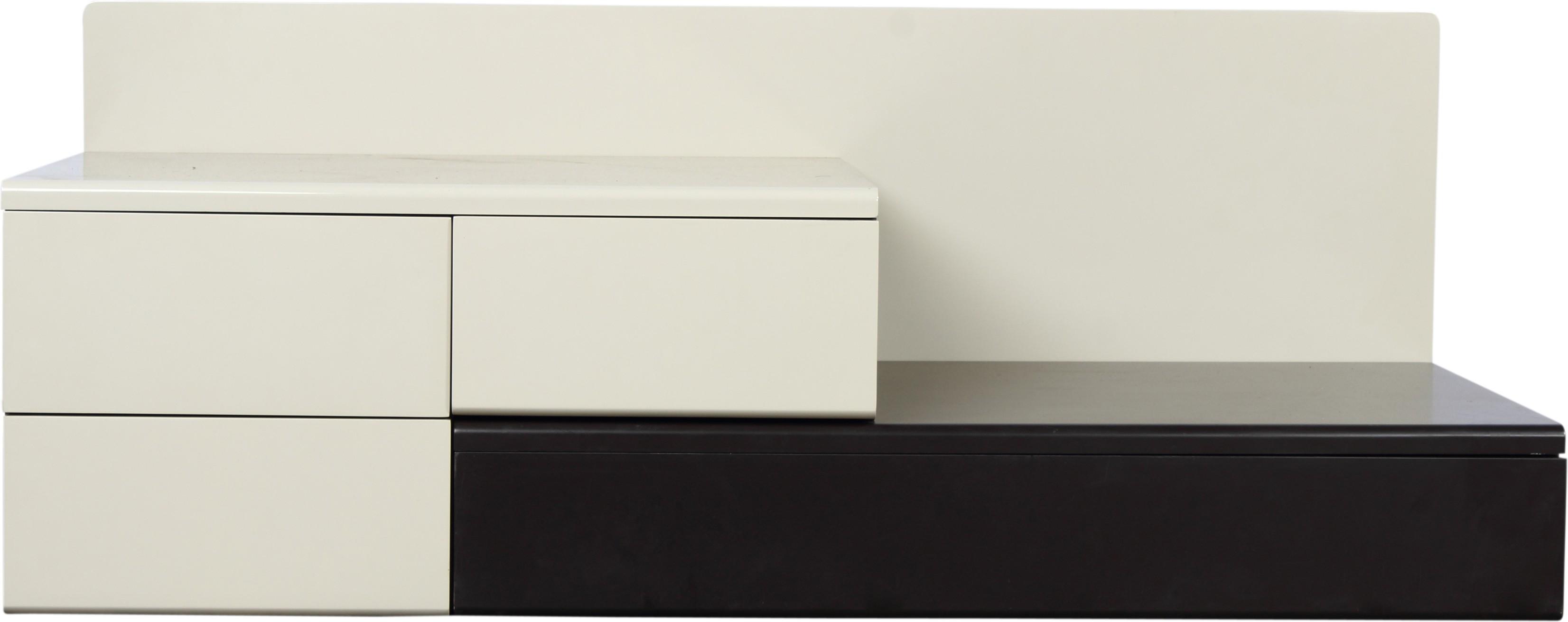 Godrej Interio Flute Engineered Wood TV Entertainment Unit(Finish Color - White)