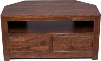 InLiving Solid Wood Entertainment Unit(Finish Color - Walnut)