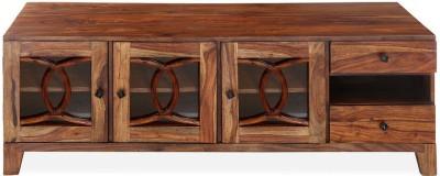 @home by Nilkamal Citrine Solid Wood Media Cabinet(Finish Color - Walnut)