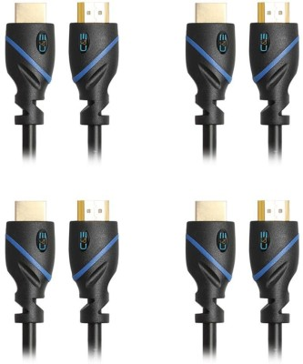 C&E  TV-out Cable High Speed HDMI Cable Ethernet 3 Feet Supports 3D and Audio Return 4 Pack(Black, For Computer, 0.9144 m)