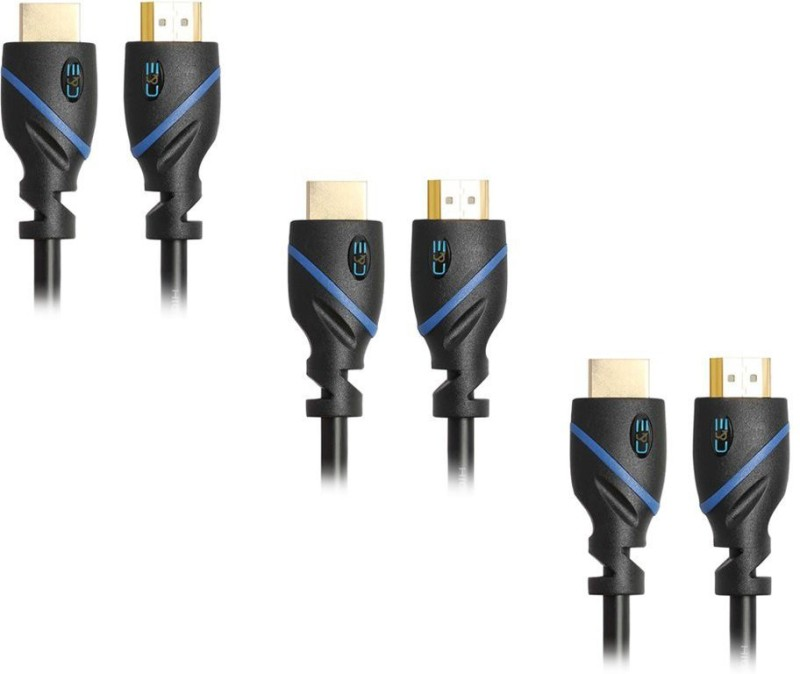 C&E  TV-out Cable 10 Feet 3 Pack HDMI 3D and Audio Return(Black, For TV)