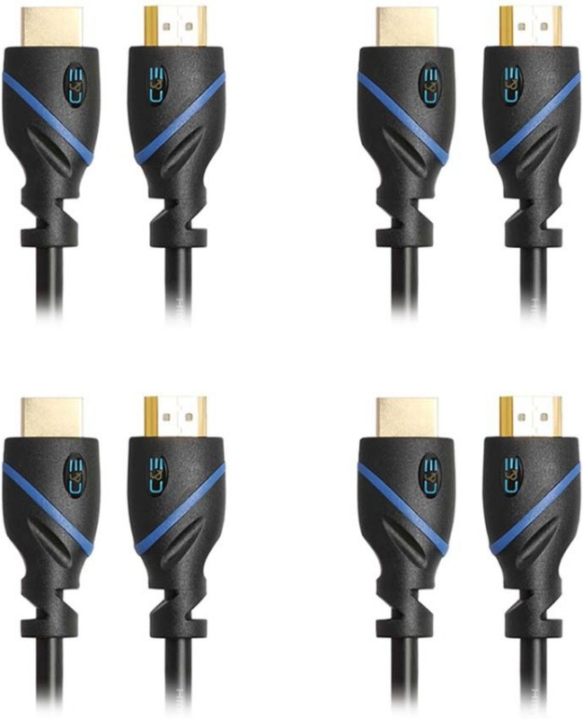 C&E  TV-out Cable High Speed HDMI Cable Supports Ethernet, 3D and Audio Return, 25 Feet, 4 Pack(Black, For Xbox, 7.62 m)