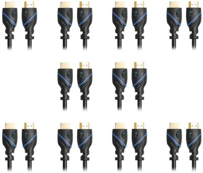 C&E  TV-out Cable High Speed HDMI Cable Ethernet 3 Feet Supports 3D and Audio Return 10 Pack(Black, For Laptop, 0.9144 m)