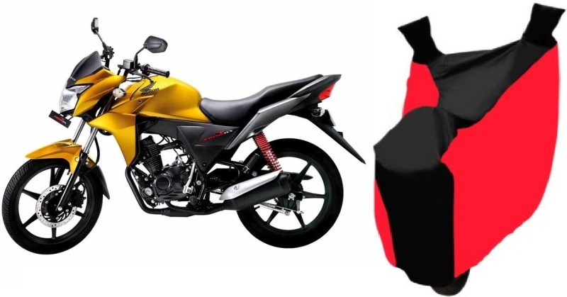 AutoKit Two Wheeler Cover for Honda(CBF, Red, Black)