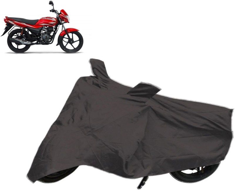 Autowheel Two Wheeler Cover for Bajaj(Platina 100 DTS-i, Black)