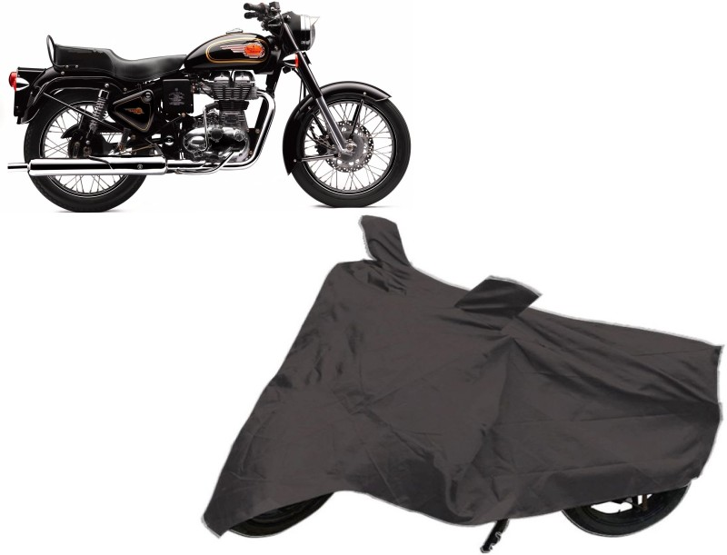 Autowheel Two Wheeler Cover for Royal Enfield(Classic 350, Black)