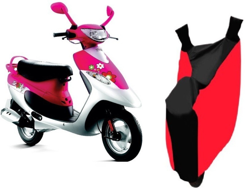 Autowheel Two Wheeler Cover for TVS(Scooty Pep+, Red, Black)