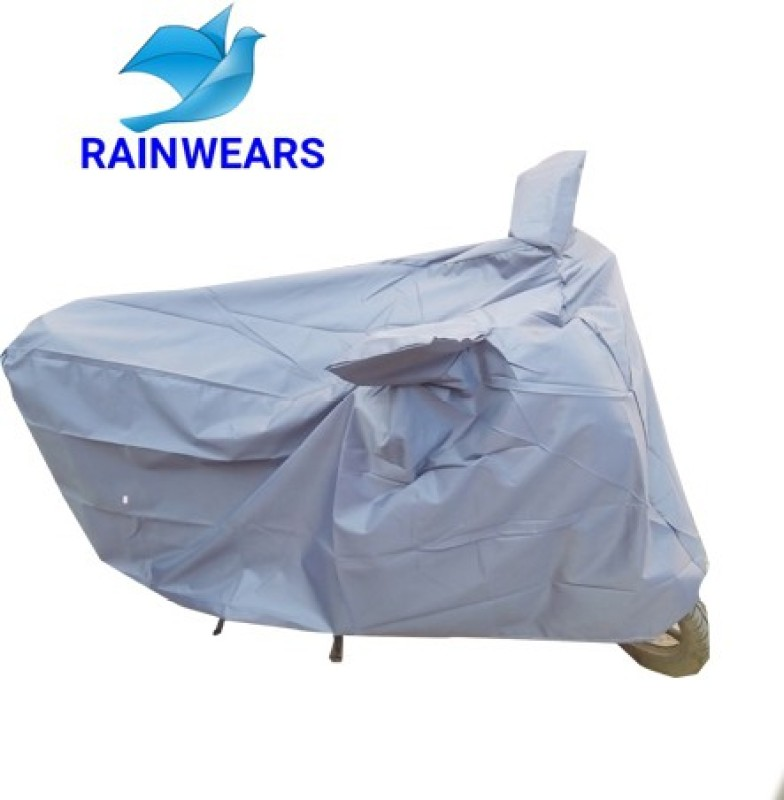 RAIN WEARS Two Wheeler Cover for TVS(Apache, Grey)