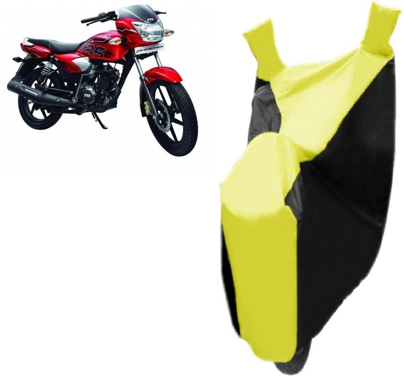 Bristle Two Wheeler Cover for TVS(Phoenix 125, Black, Yellow)