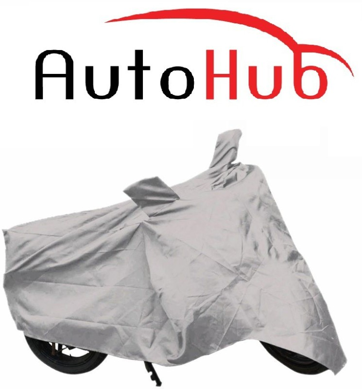 Auto Hub Two Wheeler Cover for Suzuki(Sling Shot Plus, Silver)