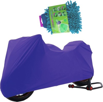Aazo 1 Two Wheeler Cover, 1 Microfiber Glove Combo