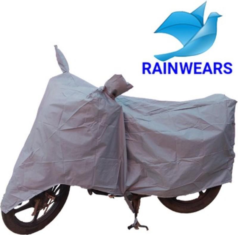 RAIN WEARS Two Wheeler Cover for Hero(Pleasure, Silver)