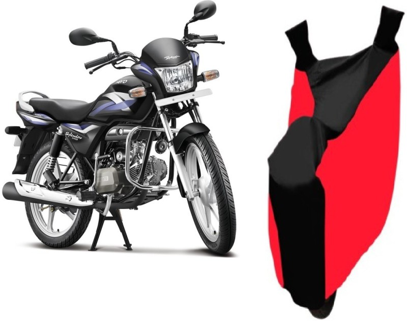 AutoKit Two Wheeler Cover for Hero(Splendor Pro, Red, Black)