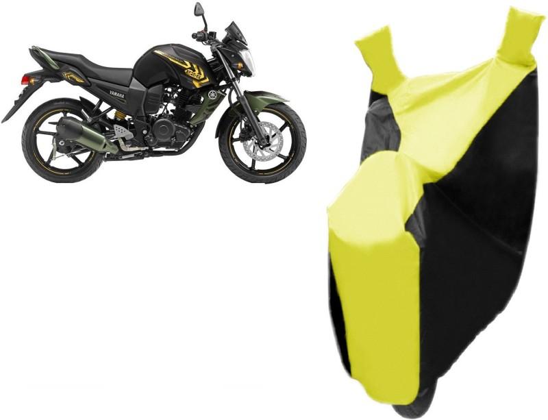 Avix Two Wheeler Cover for Yamaha(FZ-S, Black, Yellow)