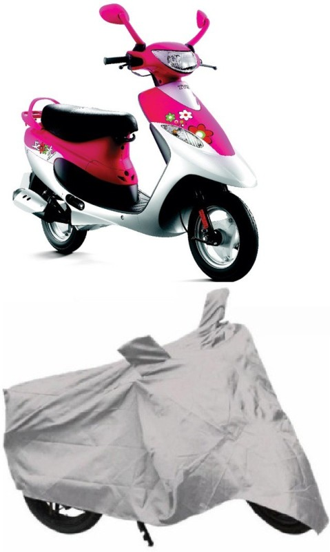 AutoKit Two Wheeler Cover for TVS(Scooty Pep+, Silver)