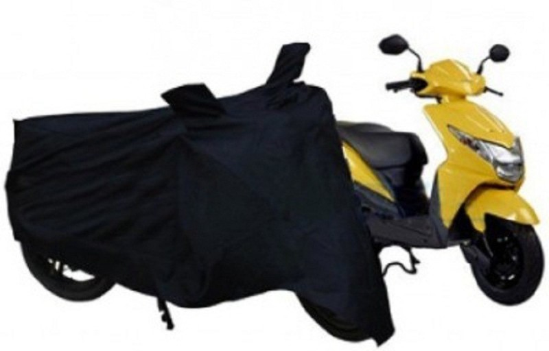 Bike World Two Wheeler Cover for Mahindra(Rodeo RZ, Black)
