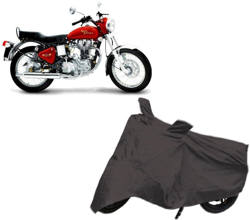Autowheel Two Wheeler Cover for Royal Enfield(Classic 500, Black)