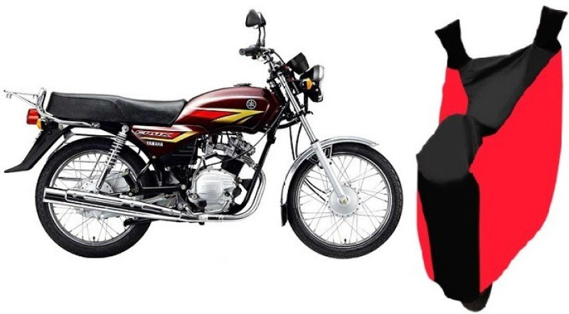 AutoKit Two Wheeler Cover for Yamaha(Crux, Red, Black)