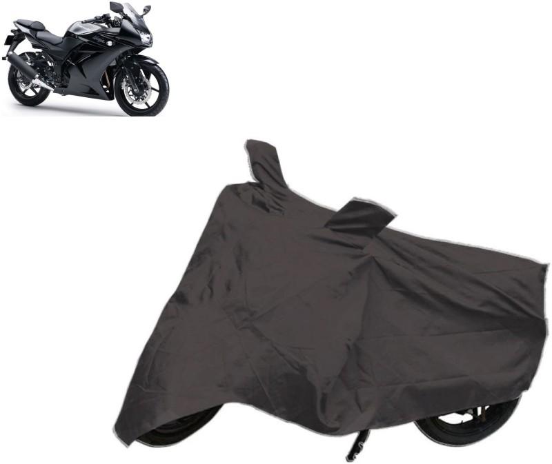 ACCESSOREEZ Two Wheeler Cover for Kawasaki(Ninja, Black)