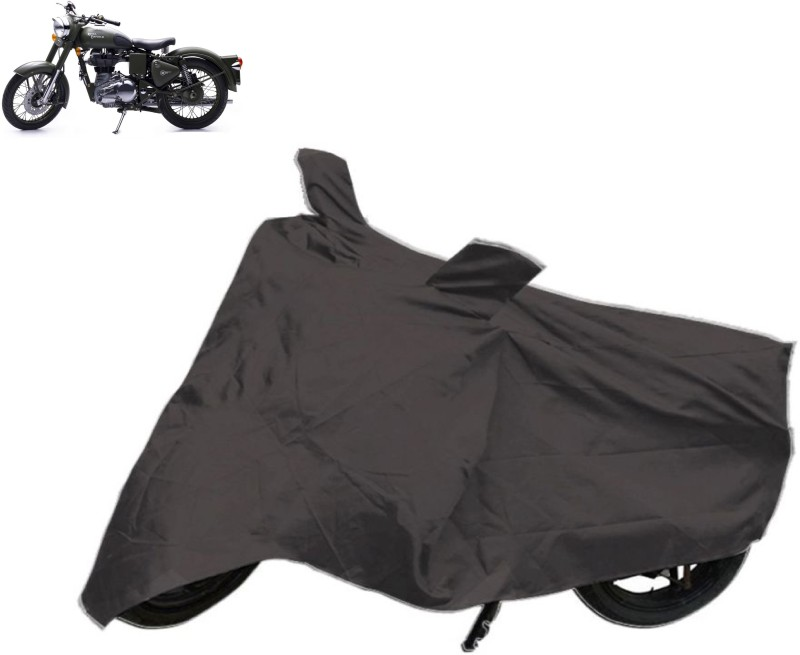 Accedre Two Wheeler Cover for Royal Enfield(Classic 500, Black)