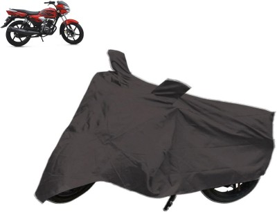 Red Silk Two Wheeler Cover for TVS
