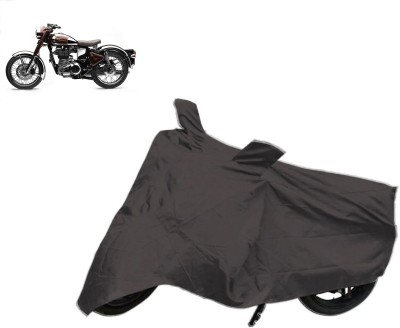 Red Silk Two Wheeler Cover for Royal Enfield
