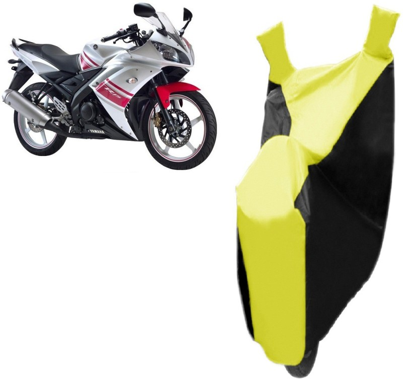 Bristle Two Wheeler Cover for Yamaha(R15, Black, Yellow)