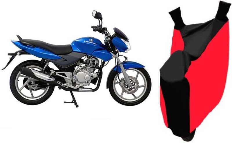 ACCESSOREEZ Two Wheeler Cover for Bajaj(DTS-i, Red, Black)