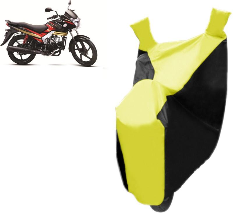 Bristle Two Wheeler Cover for Mahindra(Centuro, Black, Yellow)