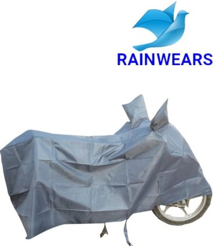 RAIN WEARS Two Wheeler Cover for TVS(Wego, Grey)