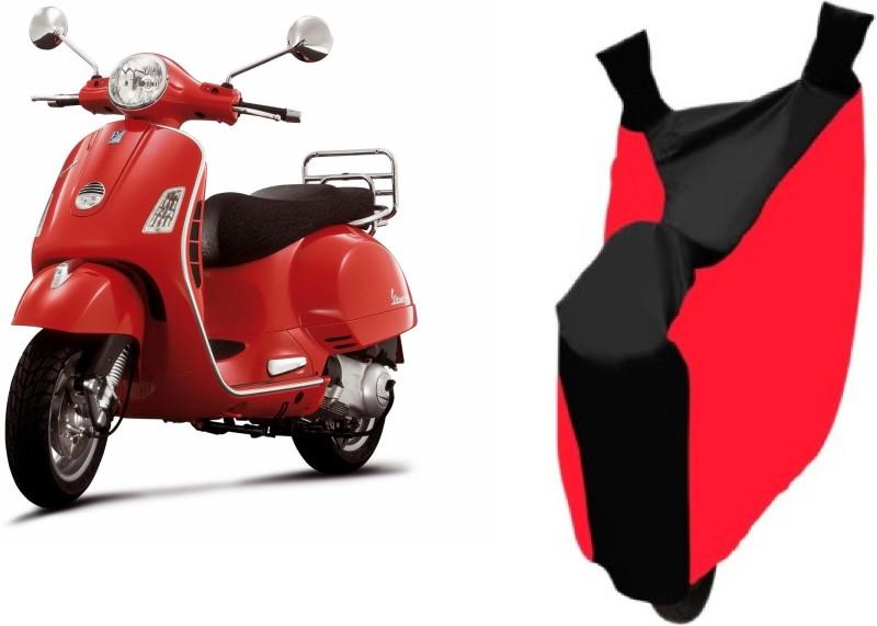 Bristle Two Wheeler Cover for Piaggio(Vespa, Red, Black)