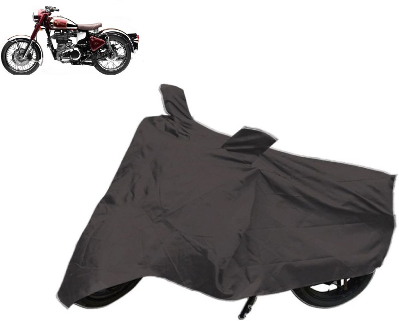ACCESSOREEZ Two Wheeler Cover for Royal Enfield(Classic 500, Black)