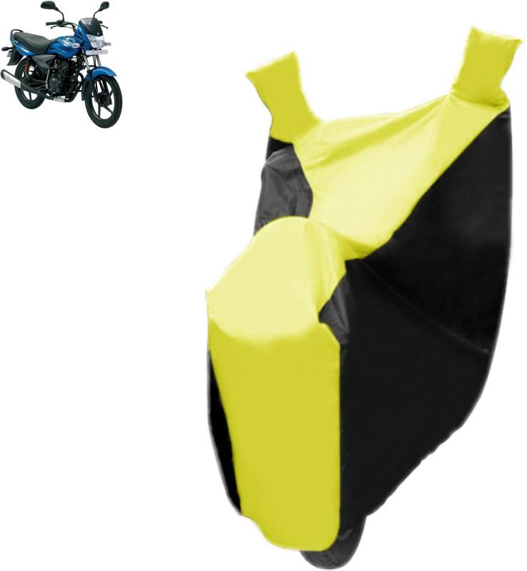 Autowheel Two Wheeler Cover for Bajaj(Platina, Black, Yellow)