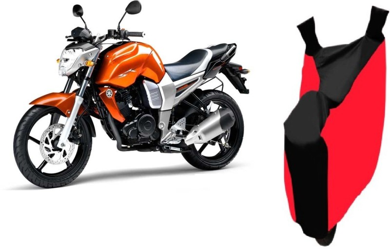 AutoKit Two Wheeler Cover for Yamaha(FZ16, Red, Black)