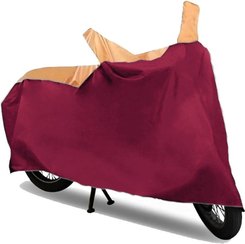 GoldCartz Two Wheeler Cover for Hero(HF Dawn, Beige, Maroon)