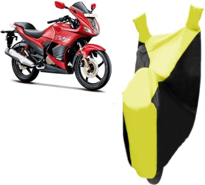 Red Silk Two Wheeler Cover for Hero
