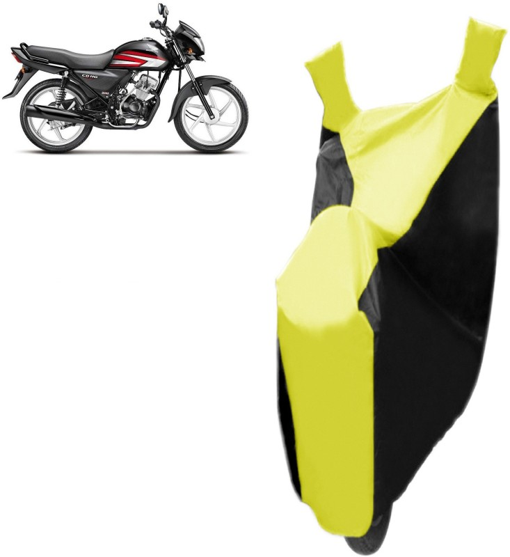 Bristle Two Wheeler Cover for Hero(CD deluxe, Black, Yellow)